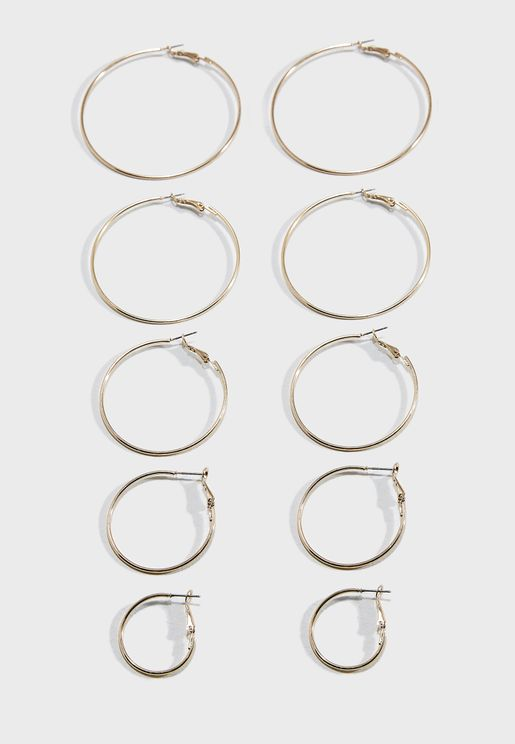 Multi-Pack Hoop Earrings