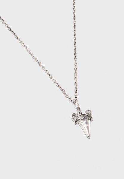Antique Silver Finish Necklace