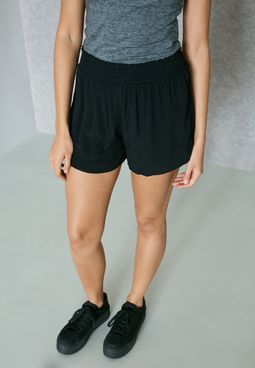 Ruffle Detail Mini Shorts