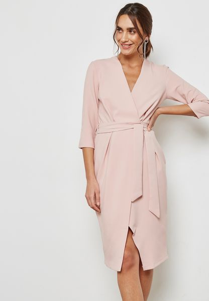 Wrap Pencil Dress