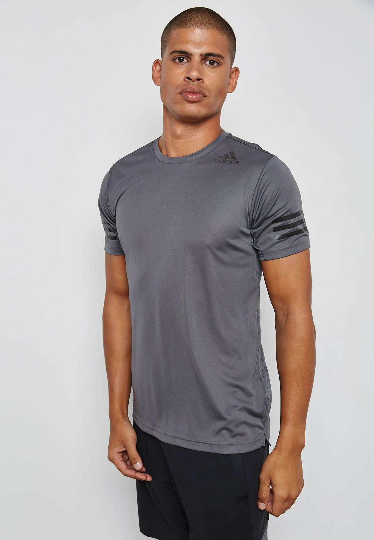 57a8b93ffa3c Shop adidas grey FreeLift Climacool T-Shirt BR4174 for Men in UAE ...