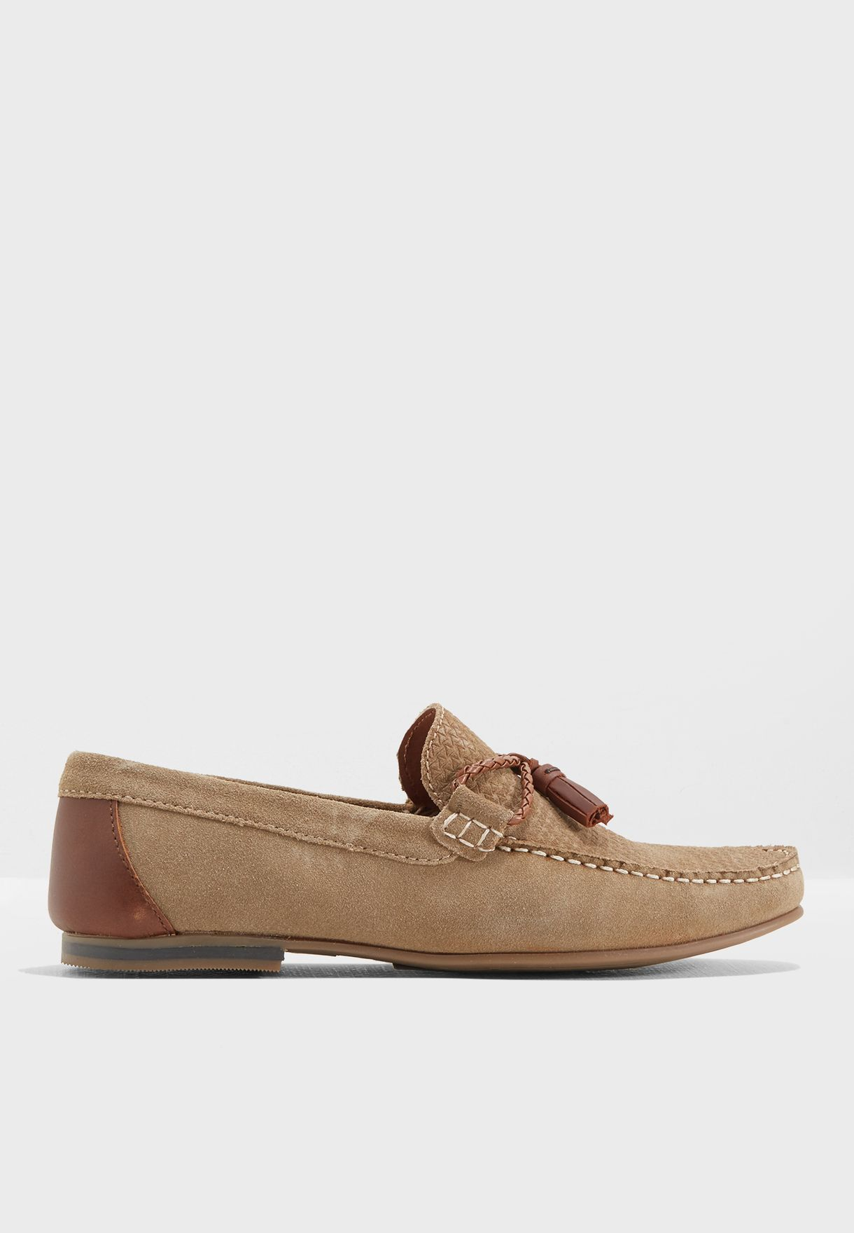 9b617ea5685 Shop Topman browns Embroidered Loafers 76K93LSND for Men in Bahrain ...