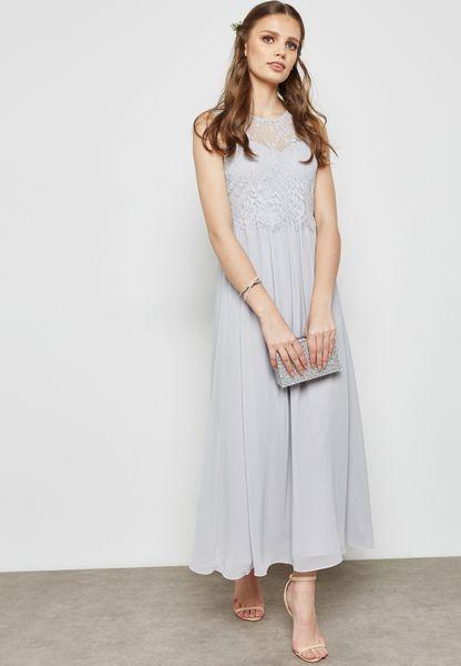 Lace Maxi Bridesmaid Dress