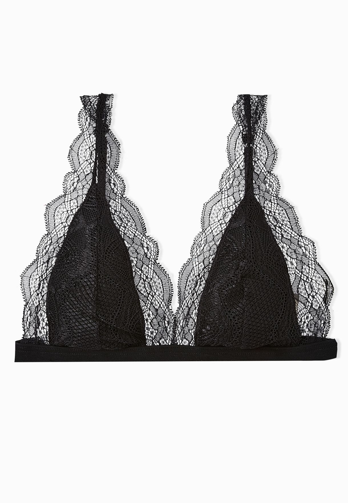 84ad0363a755a Shop Topshop black Lace Triangle Bra for Women in Bahrain - TO856AT56GPN