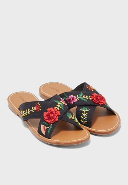 Flower Printed Sandal