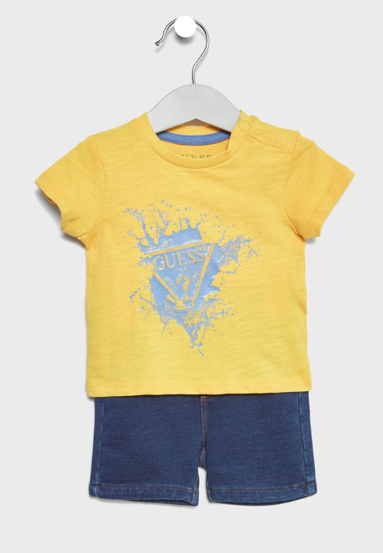 fc44986de121 Shop Guess multicolor Infant T-Shirt + Shorts Set I82G09K7090 for ...