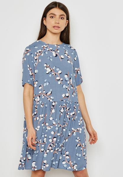 Tie Back Printed Dress