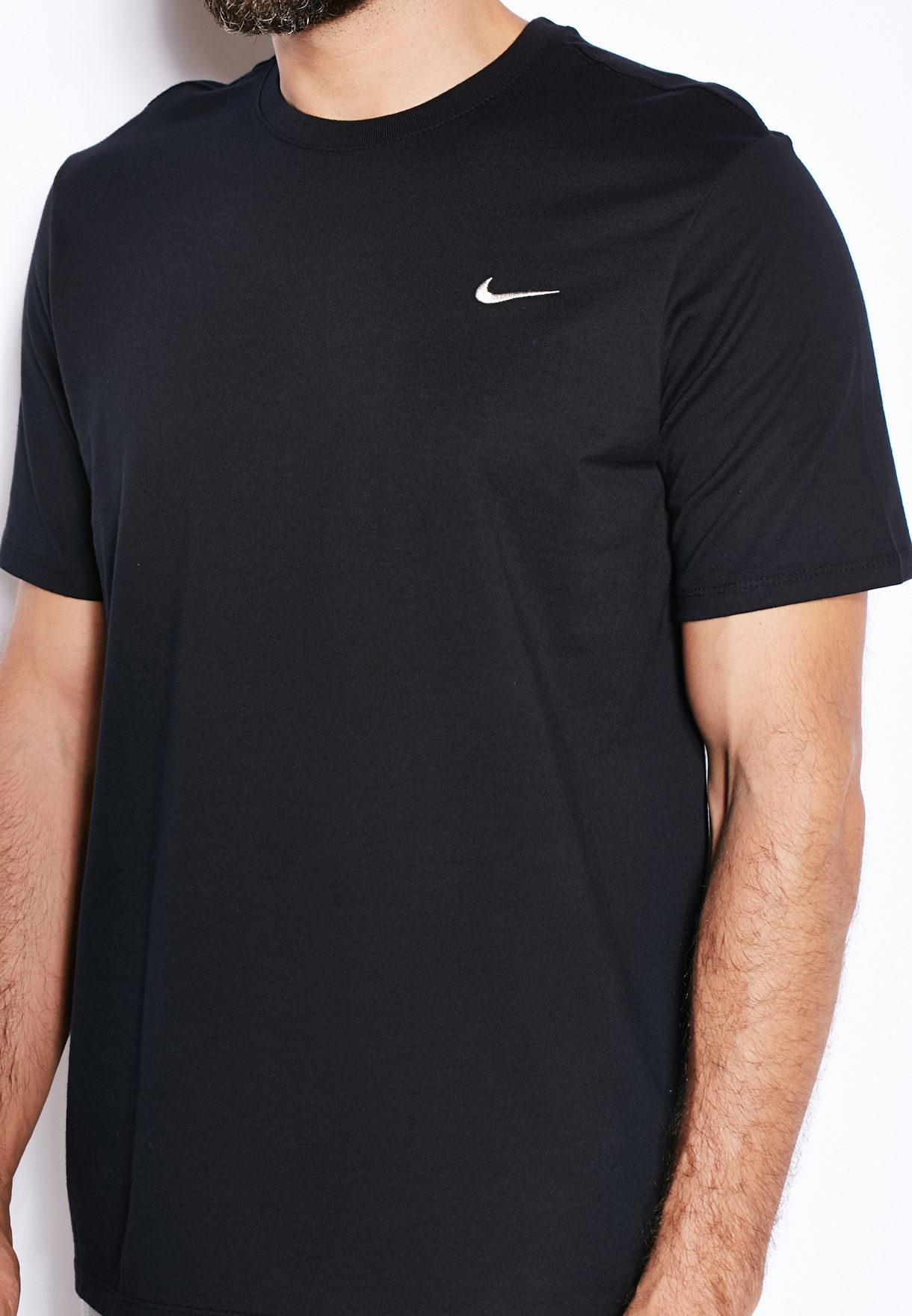 e669ff26 Shop Nike black Embroidery Swoosh T-Shirt 707350-013 for Men in UAE ...