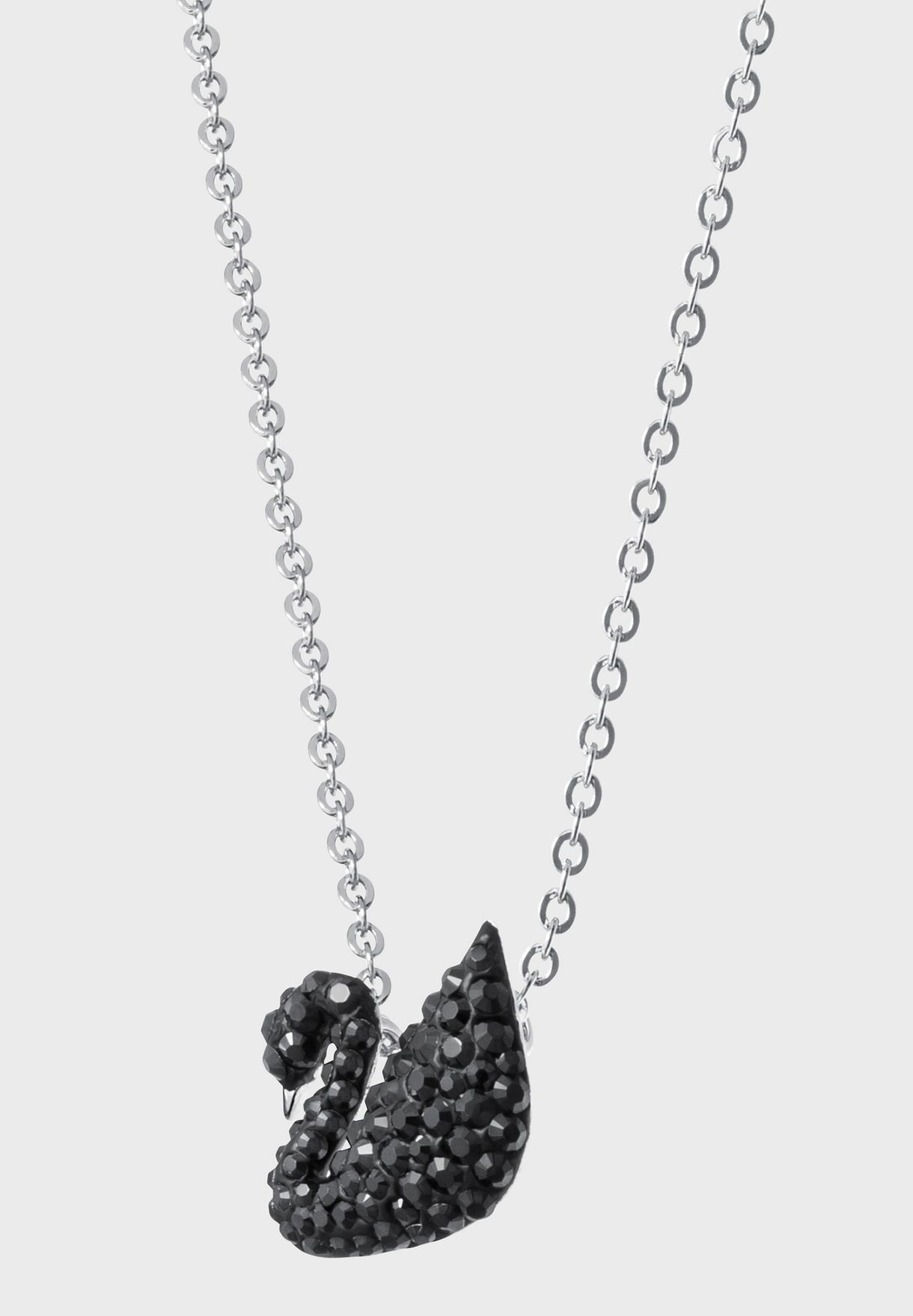 Small Iconic Swan Pendant Black Rhodium Plated