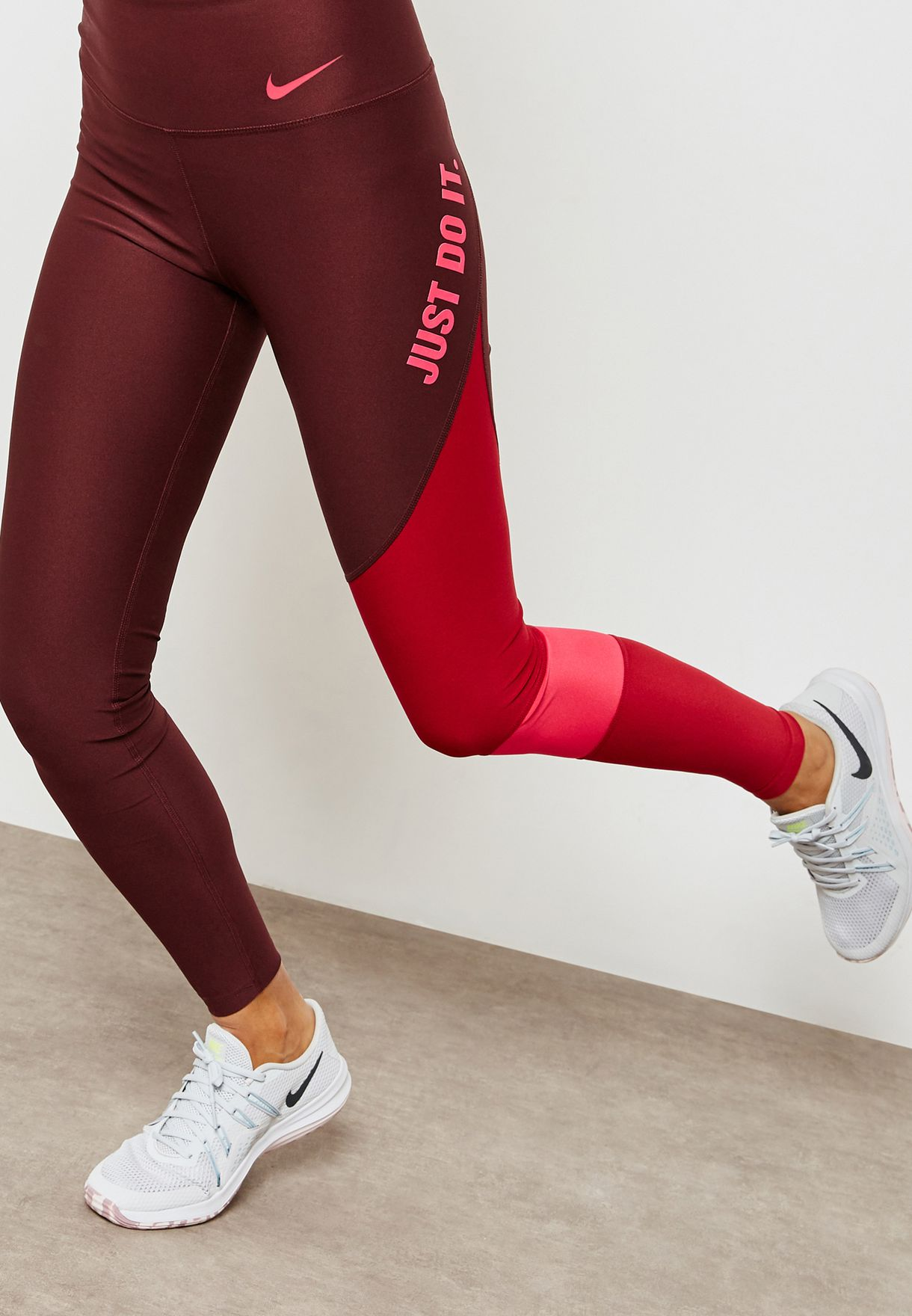 nike leggings red