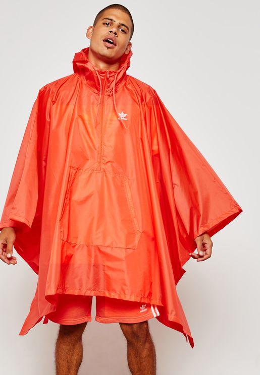 Trefoil Poncho Jacket