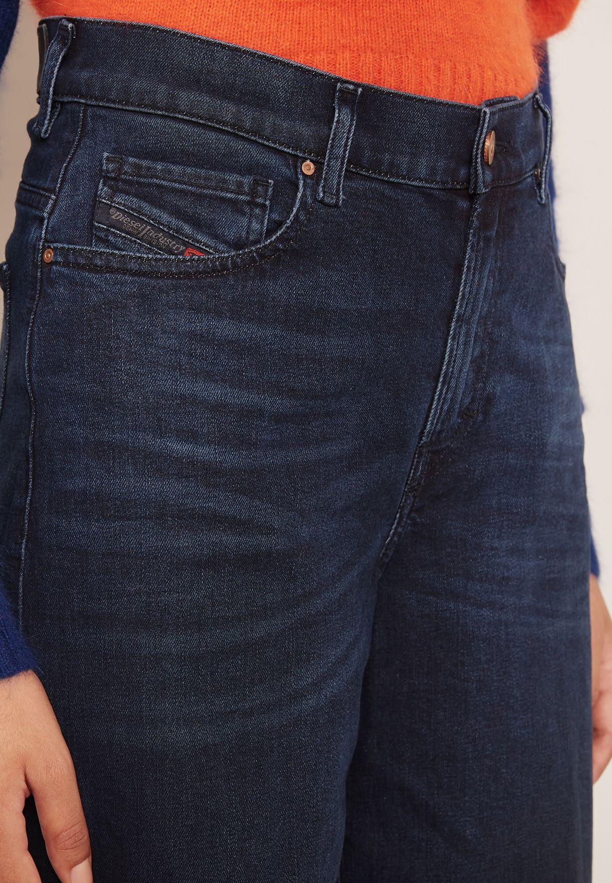 Ripped  Wide Leg Crop Jeans