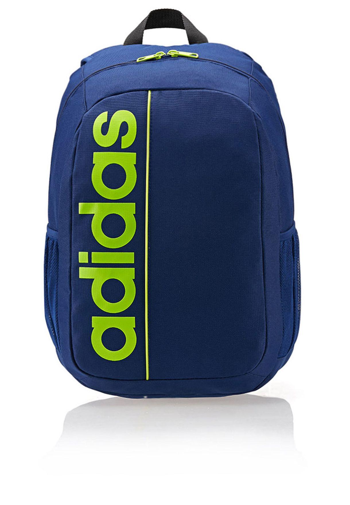 fd419cf5aae Shop adidas blue Linear Ess Backpack F79040 for Men in Bahrain ...