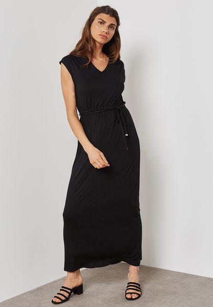 Crochet Back Maxi Dress