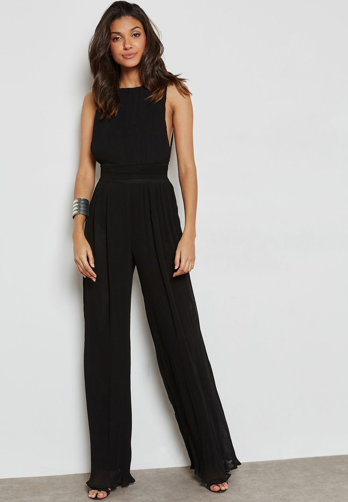35f9b0af6b8 Shop Missguided Tall black Pleated Drop Armhole Jumpsuit Y9202133 for Women  in Bahrain - MI407AT56FTZ