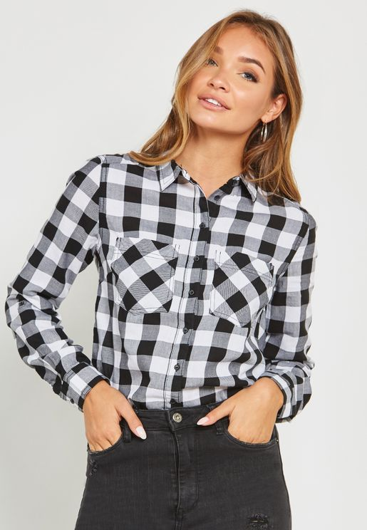 Pocket Detail Checked Shirt