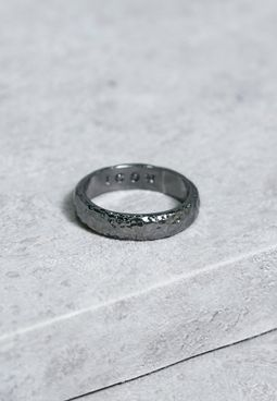 Large Hammered Band Ring