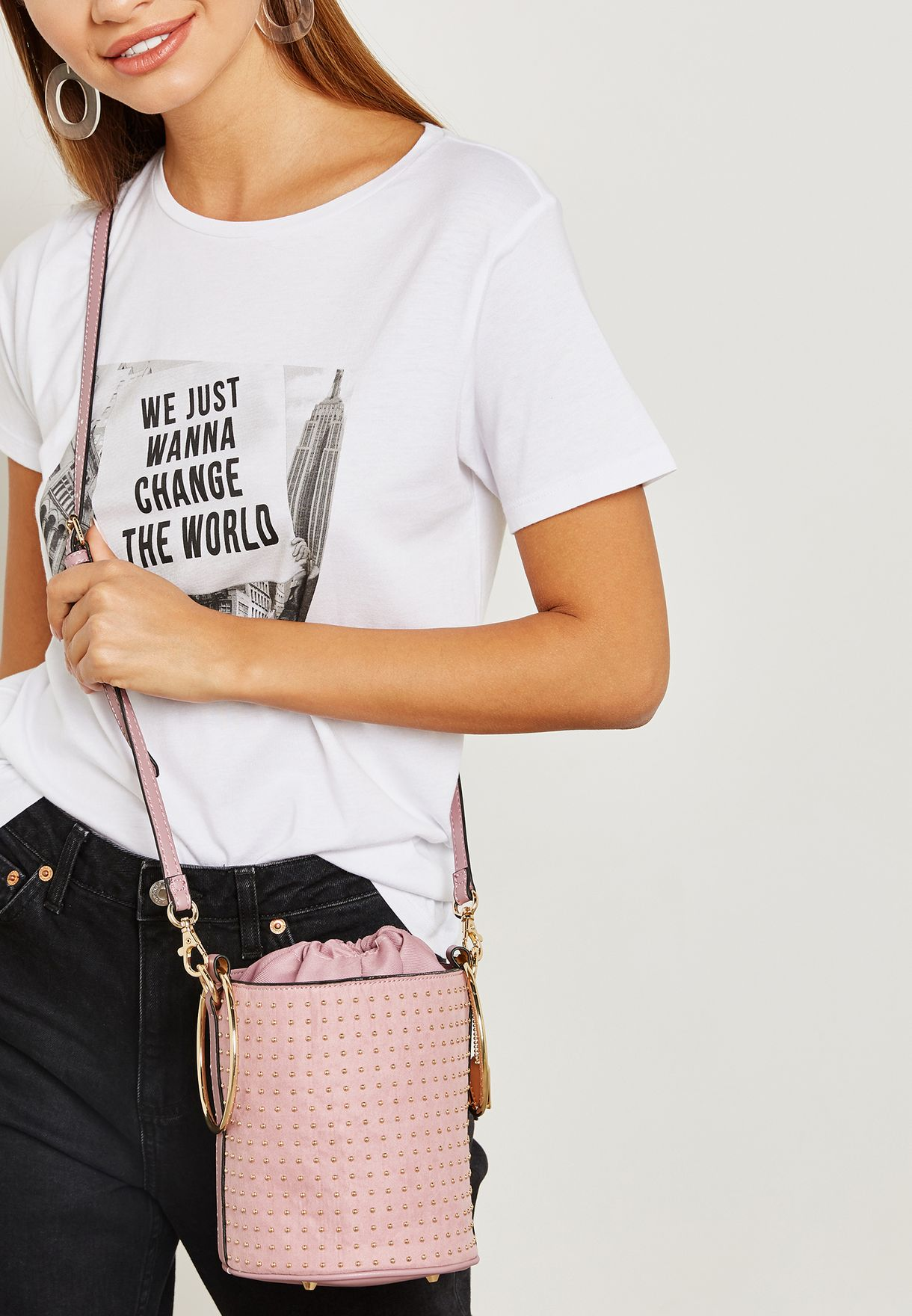 Donut Bucket Crossbody