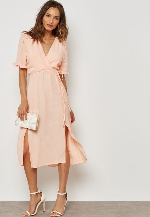 Tie Front Wrap Dress