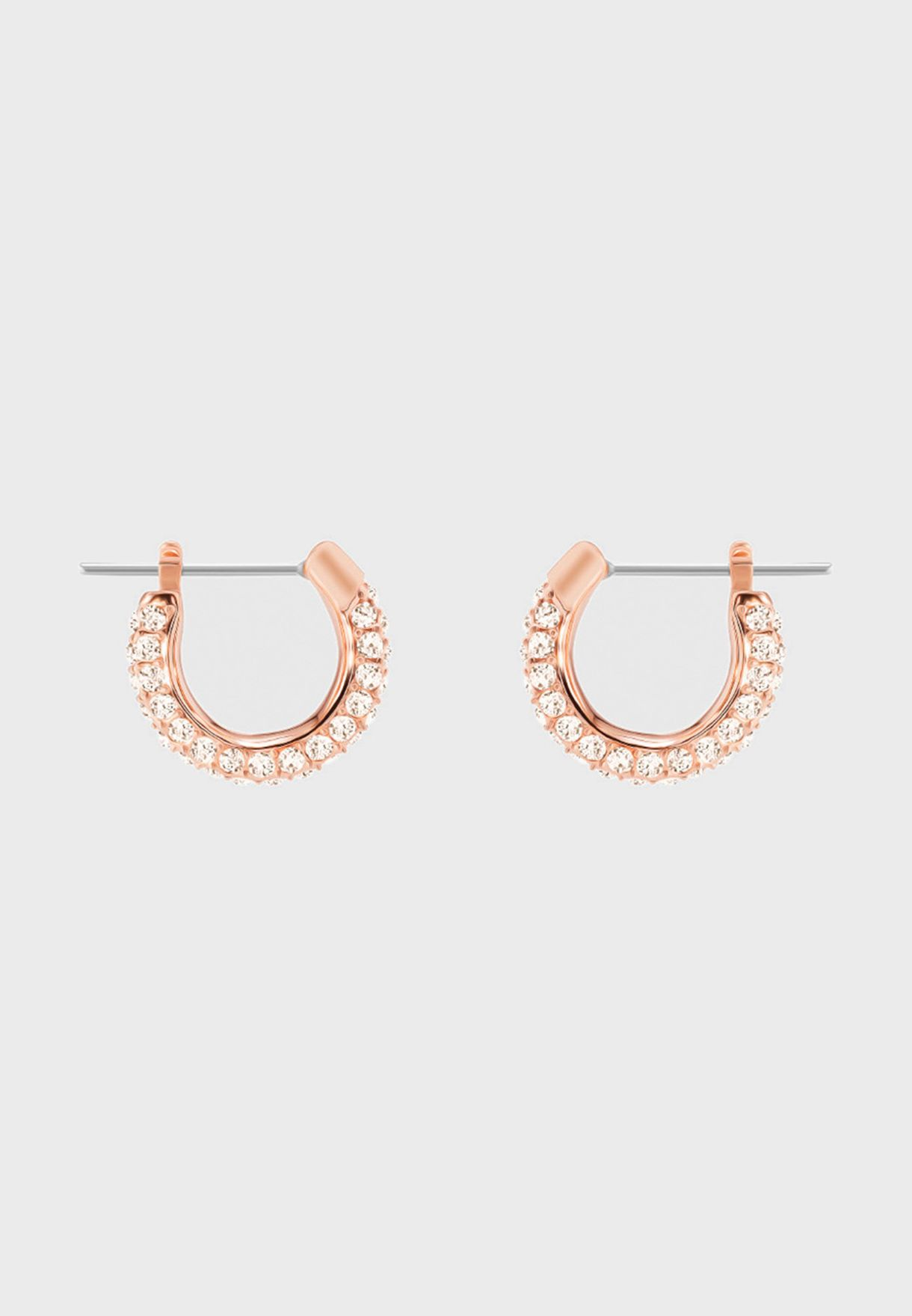Stone Pierced Hoop Earrings