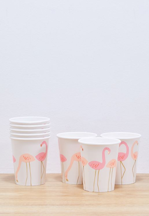 8 Small Flamingo Cup Pack
