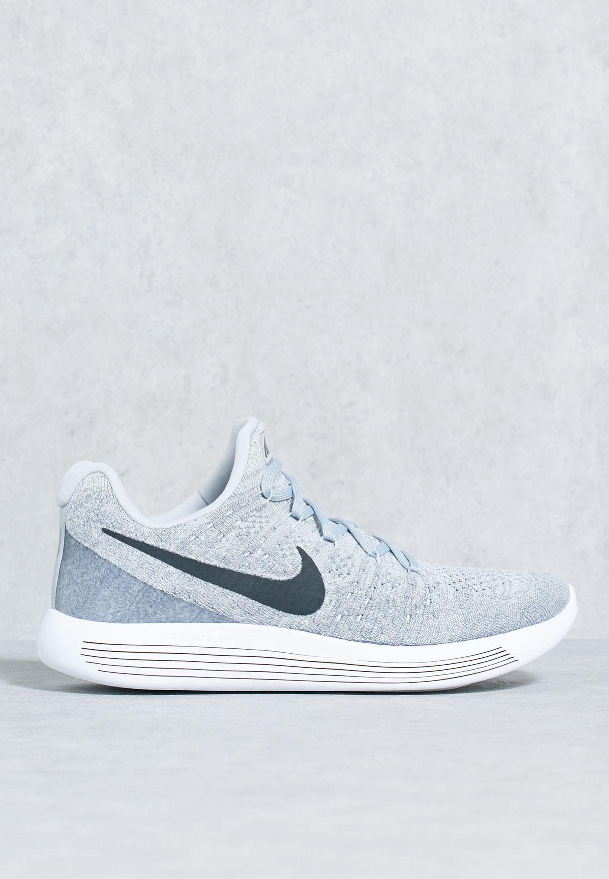5f0d898c8263 Shop Nike grey Lunarepic Low Flyknit 2 863779-002 for Men in Qatar ...
