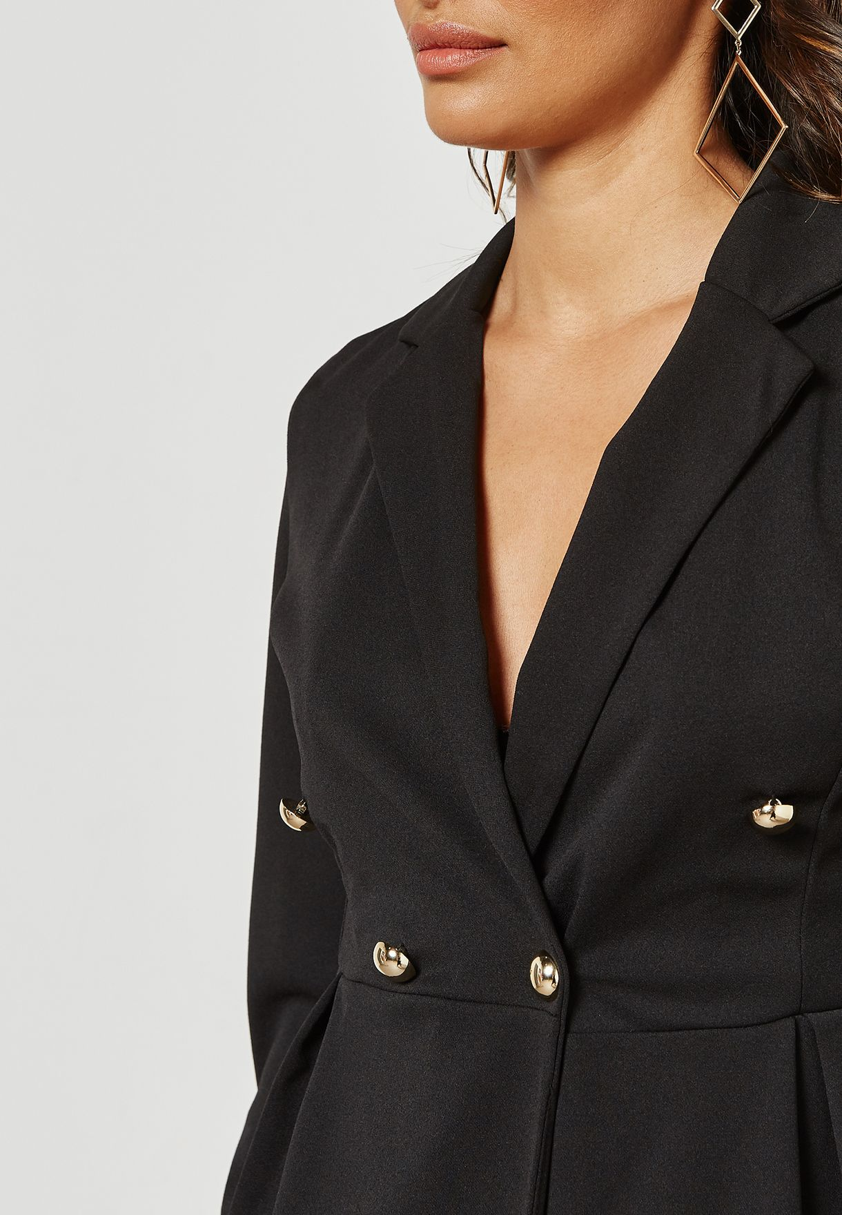 Single Breasted Detail Blazer