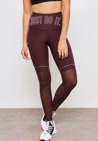 3e68b276339e6 Shop Nike grey Pro Crossover Leggings AH8776-036 for Women in Saudi ...