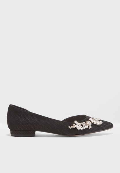 Diamonde Di Embellished Ballerinas