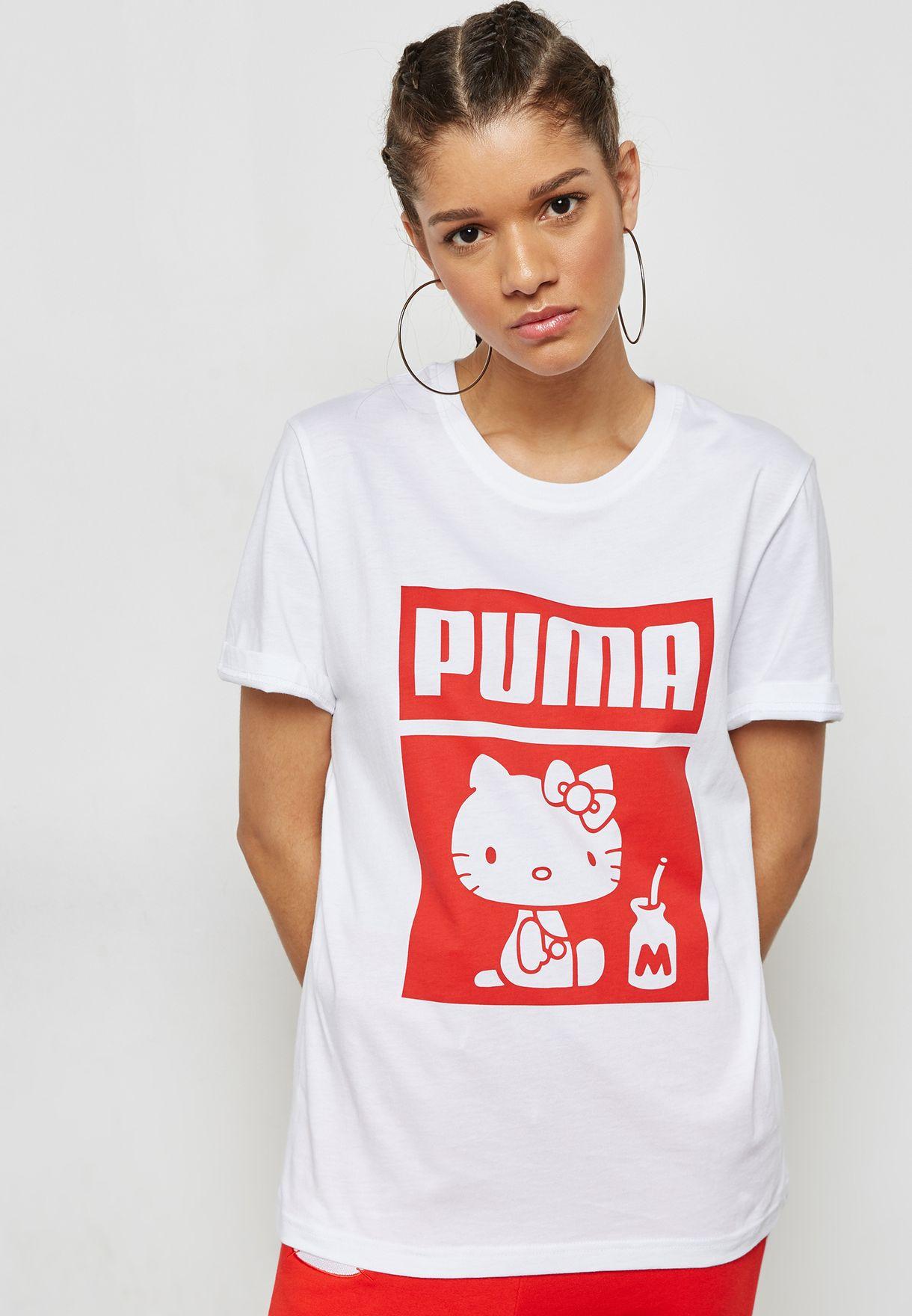 084ec6622 Shop PUMA white Hello Kitty T-Shirt 57673002 for Women in UAE ...