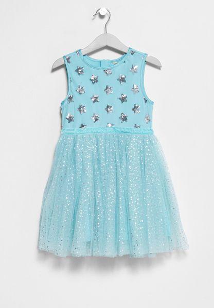 Tween Sparkly Star Prom Dress