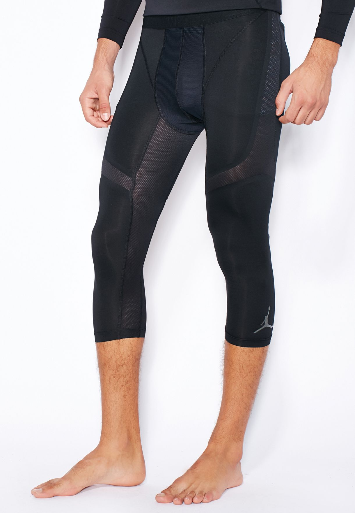 7ae3a9096b4 Shop Nike black Jordan Stay Cool Compression 3/4 Tights 687837-014 ...