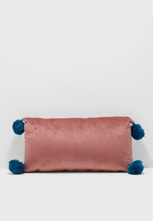 Pom Pom Detail Cushion Insert Included 40x20cm