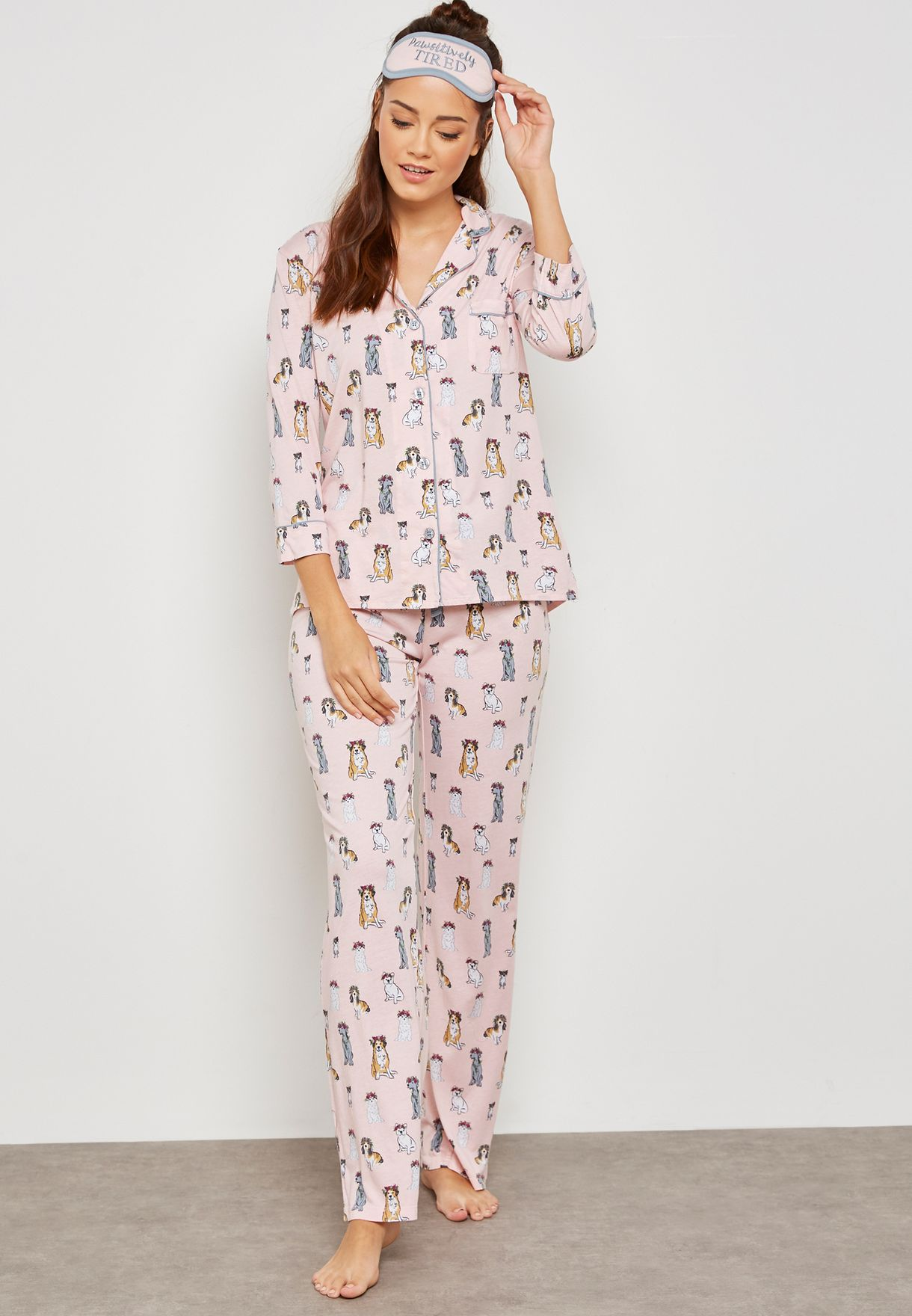 0ac14c6fdc Shop Pj Salvage prints Puppy Pyjama Set RJPPP for Women in UAE ...