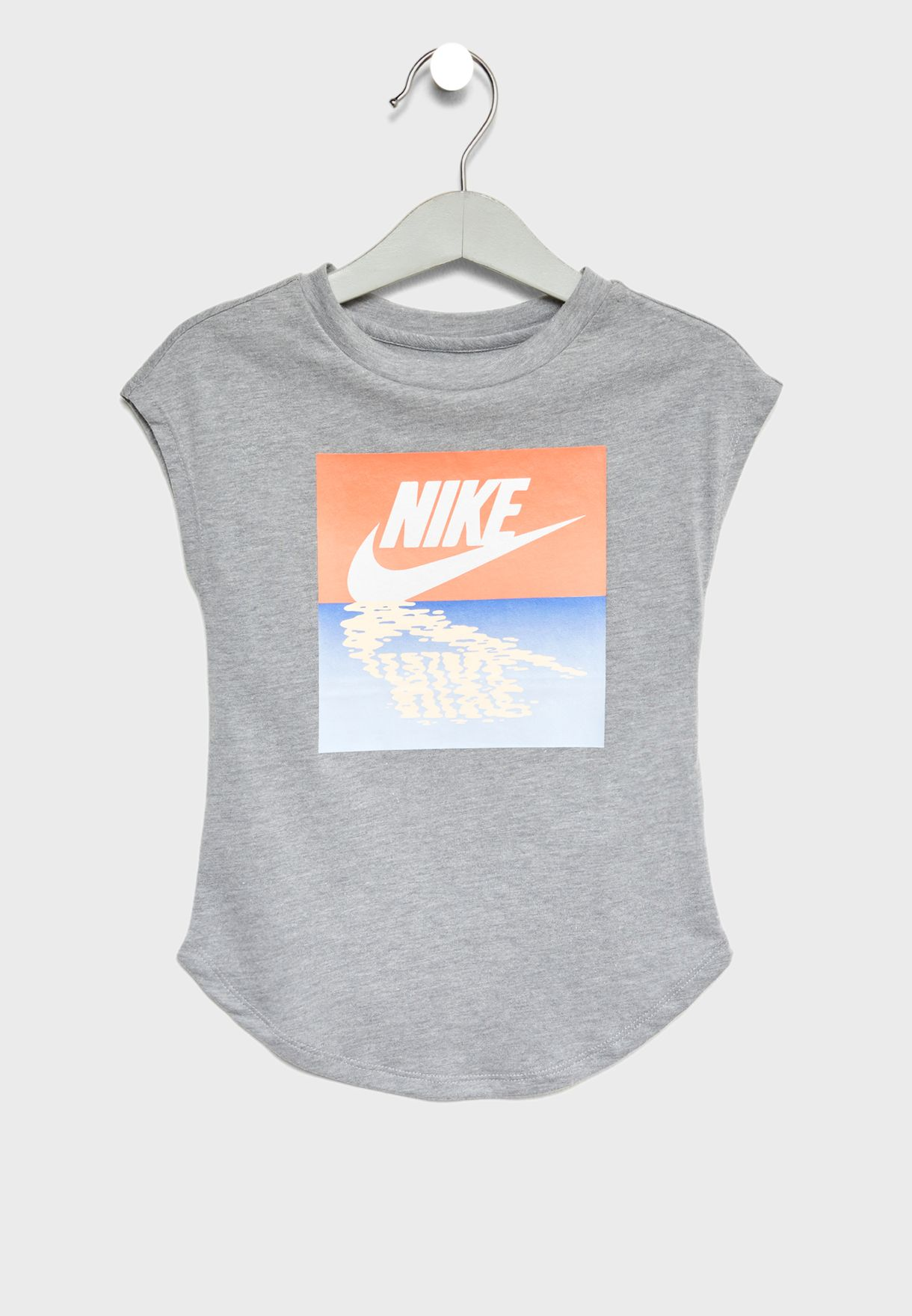 0b7980744 Shop Nike grey Kids Sunset Futura T-Shirt 36D405-042 for Kids in UAE ...