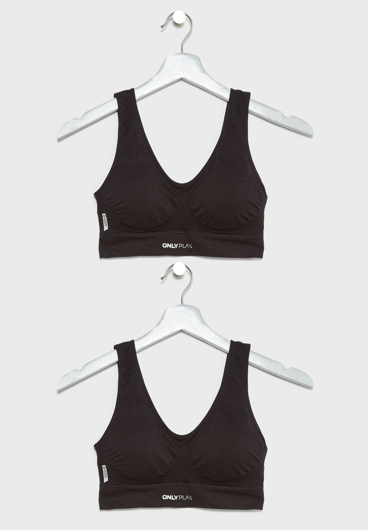 e14724218f990 Shop Only play black 2 Pack Sports Bra 15113968 for Women in UAE ...
