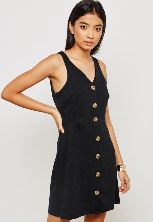 Front Button Detail Dress