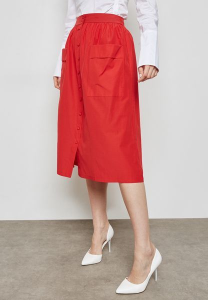 Self Tie Pocket Skirt