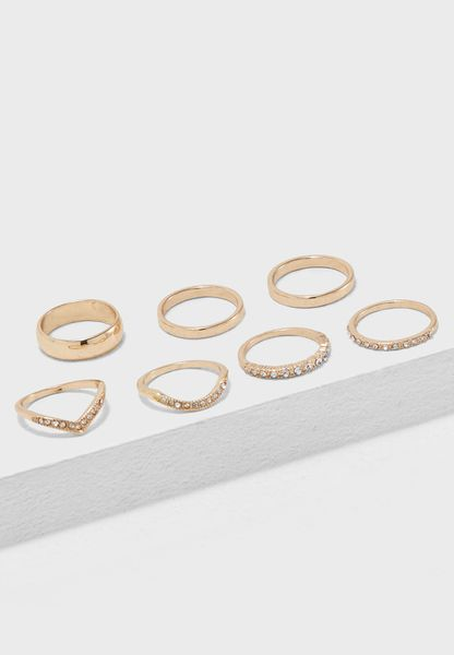 Rhinestone Rings Multipack