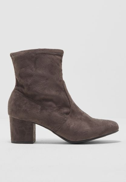 Basic Suede Ankle Boots