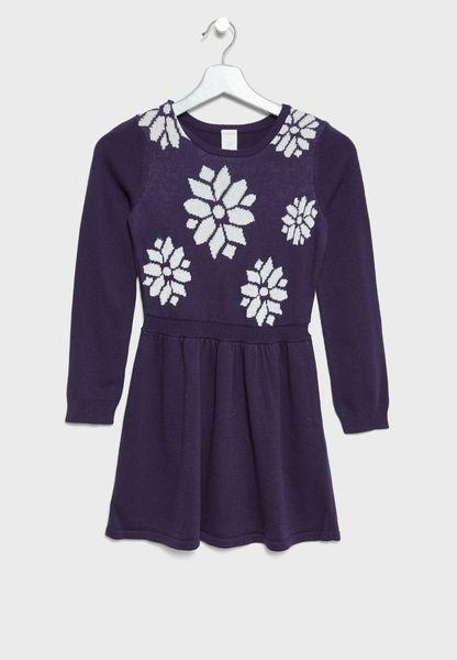 Little Snowflake Sweater Dress