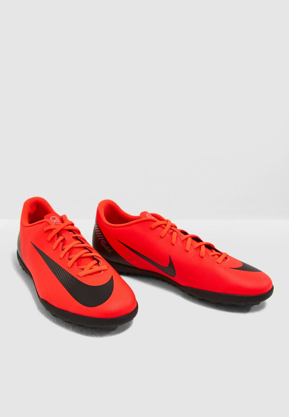 738de85e138 Shop Nike red Mercurial Vaporx 12 Club CR7 TF AJ3738-600 for Men in ...