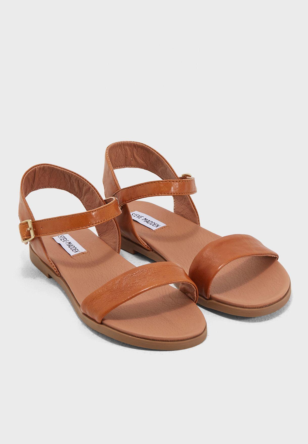 244ce4c0a519 Shop Steve Madden browns Dina Flat Sandals DINA for Women in UAE ...
