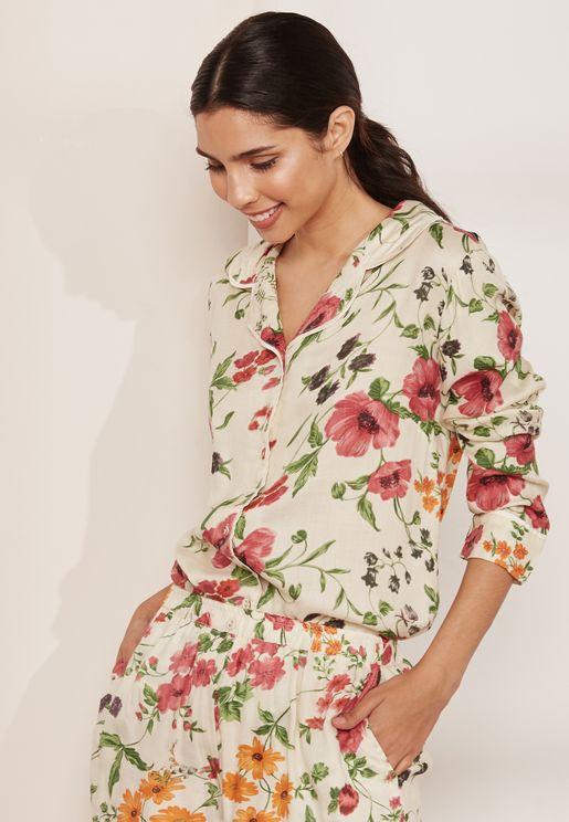 Babette Floral Pyjama Shirt