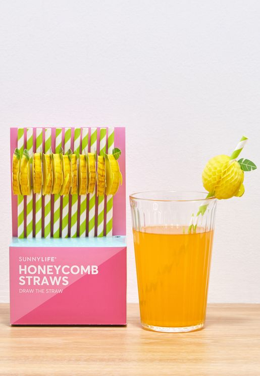 12 Pack Straws Lemon