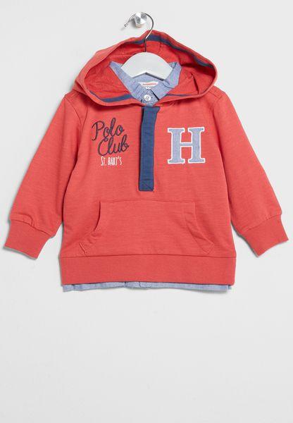 Infant Hooded Top+Inner Shirt