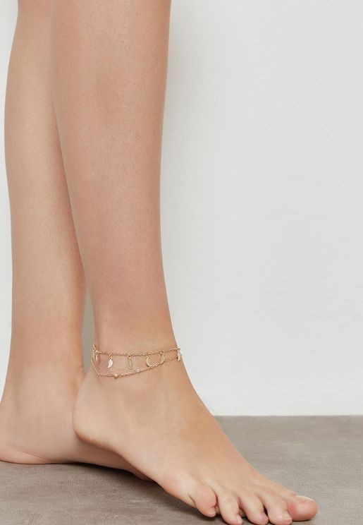 Leaves Charms Anklet