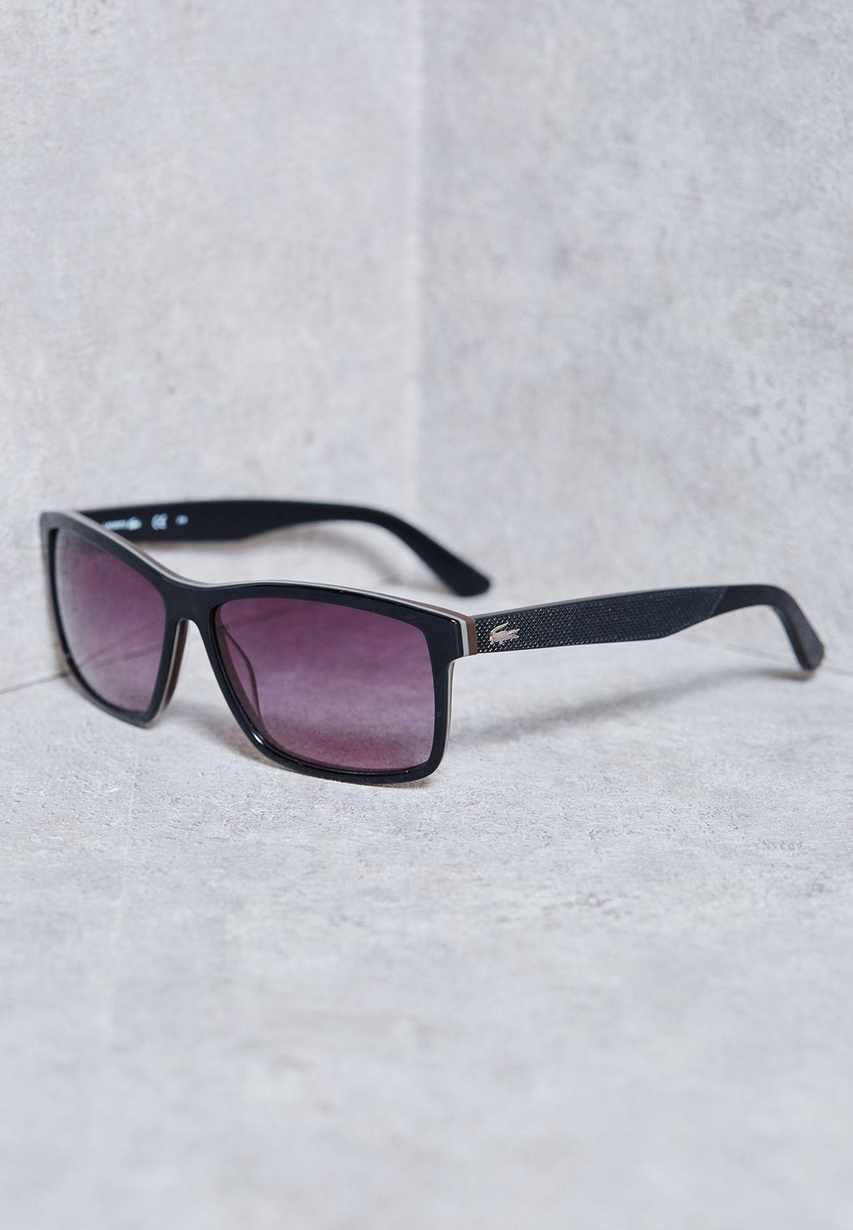e82a46054 تسوق نظارة شمسية كلاسيكية ماركة لاكوست لون أسود L705S-001 في البحرين ...
