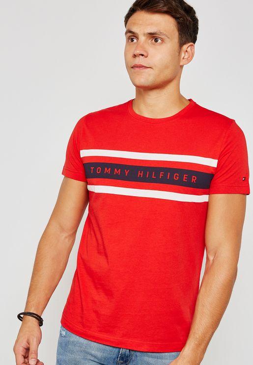 Logo Band Graphic Print T-Shirt