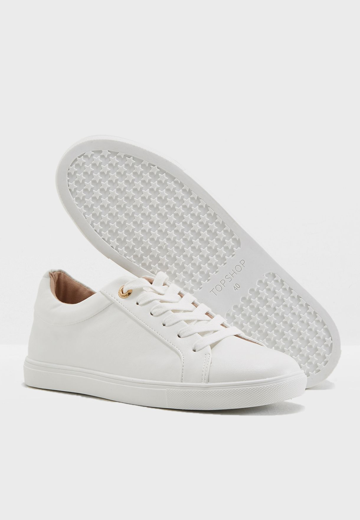 Buy Topshop white Cookie Lace Up